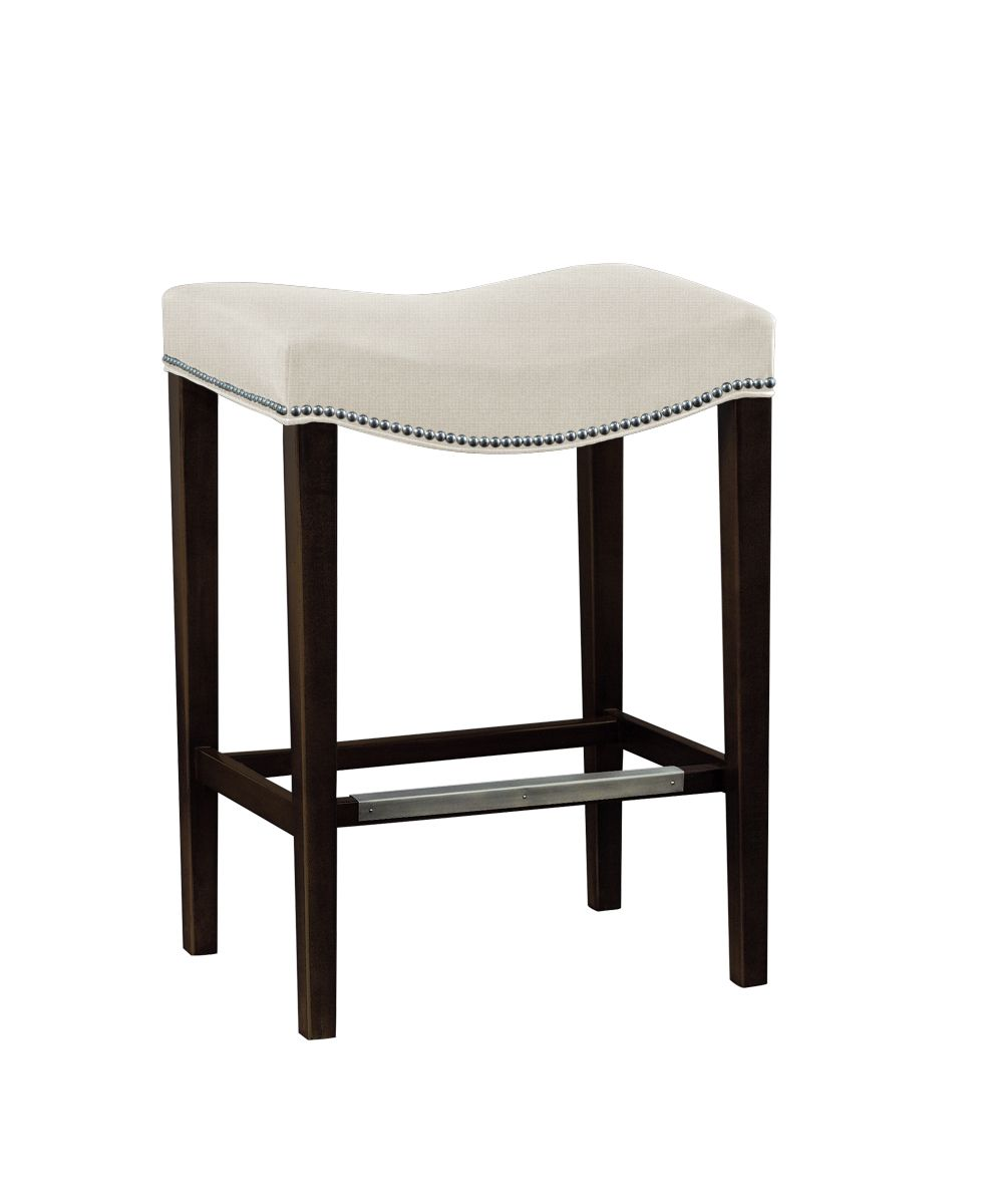 Need A Lower Cost Version Of This Bat Stool Love Hickory Chair Madigan Backless In Dark Walnut Oatmeal