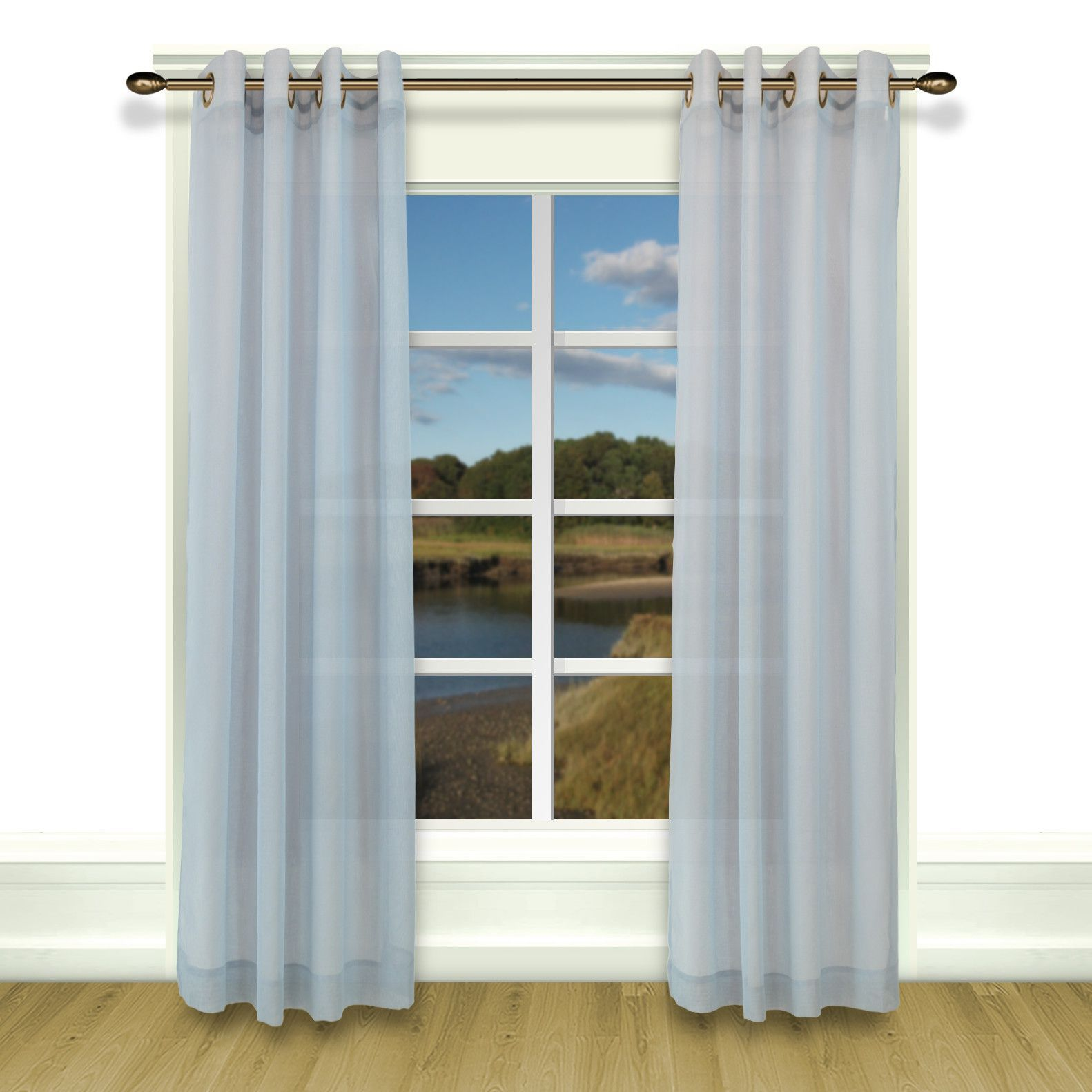 Bal Harbour Grommet Curtain Single Panel With Images Drapes