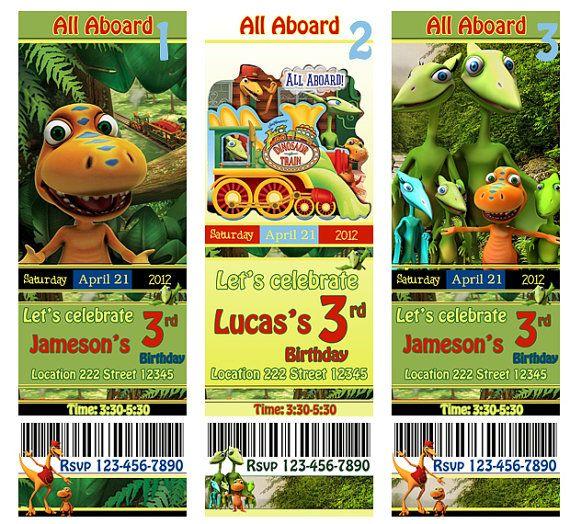 dino train | melody's dinosaur party-5 years old | pinterest, Birthday invitations