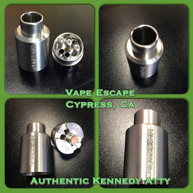 """""""In addition to the other premium features, the #kennedy atty has holes at the bottom under your coils for additional airflow! #authenticdripatty 