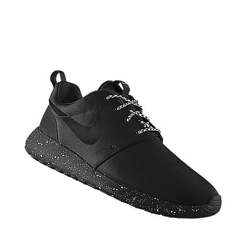 bd1b2b37bdef Roshe Runs black speckled sole