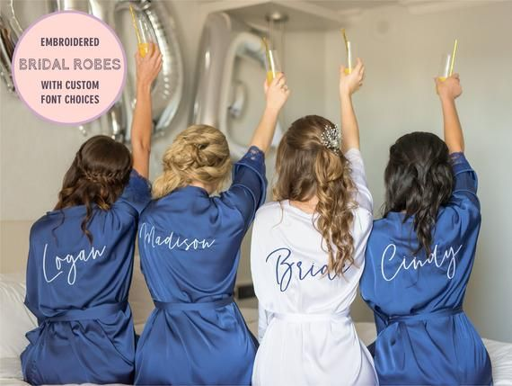 Bridesmaid Robes, Bridesmaid Gift, Bridesmaid Proposal, Monogram Robe, Getting Ready Robes, Bridal Party Robes, Bride Robe, Silk Robes