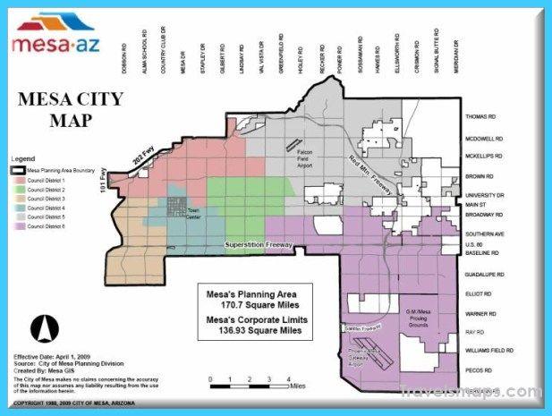 Awesome Map Of Mesa Arizona Map Arizona City Map