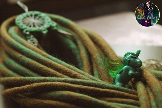 Set of 30 double ended wool dreadlocks. 30 DE by AliceDreads