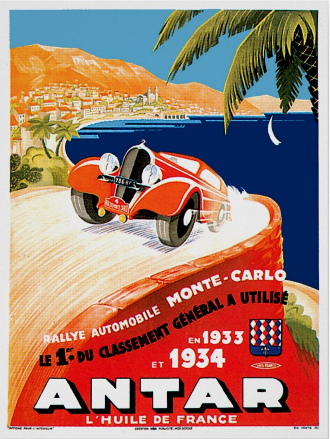Monte Carlo Automobile Rally Poster in 2020