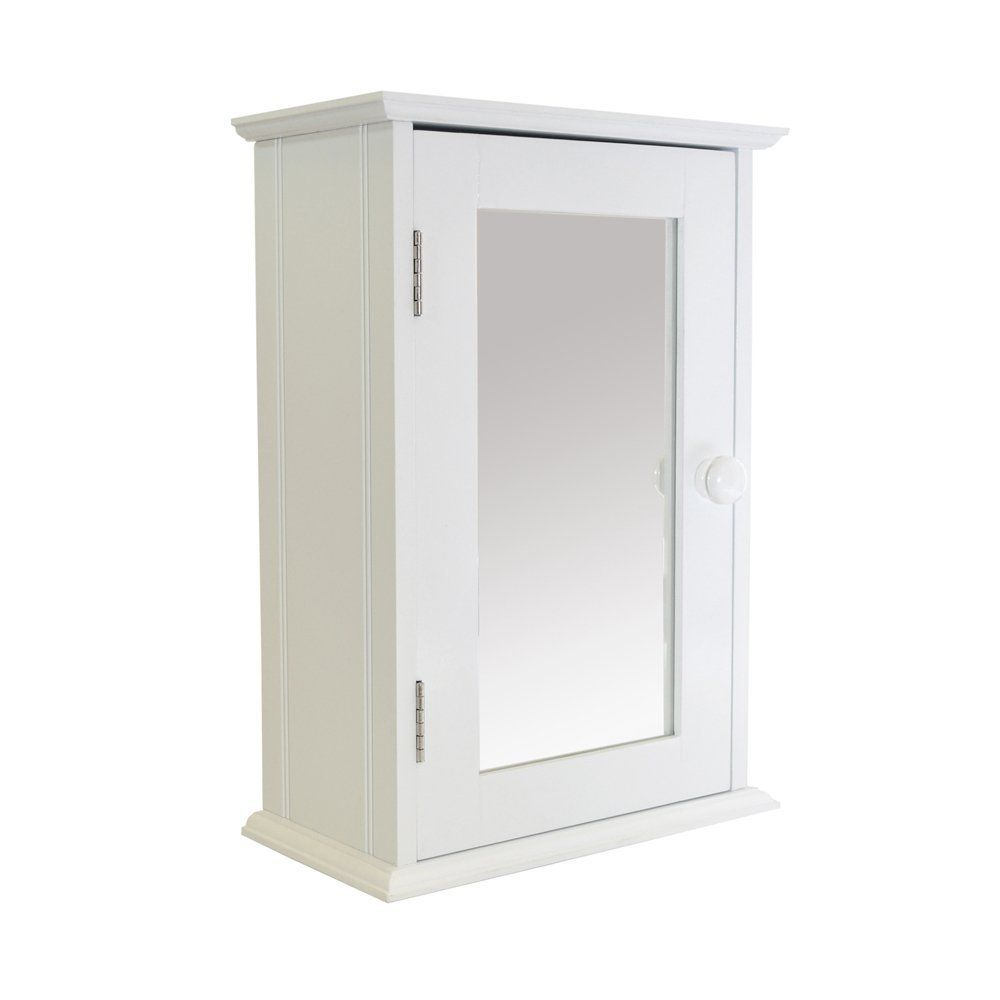 White Single Door Wooden Shaker Bathroom Cabinet: Amazon.co.uk ...