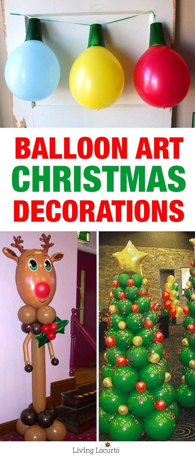 Wonderful Creative Christmas Party Ideas Part - 12: Creative Ideas For Christmas Balloon Art. Fun DIY Holiday Decorations That  Turn Your Home Or Party Into A Festive Winter Wonderland!