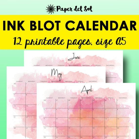 Monthly Calendar Printable Enjoy Planning Out Your Year
