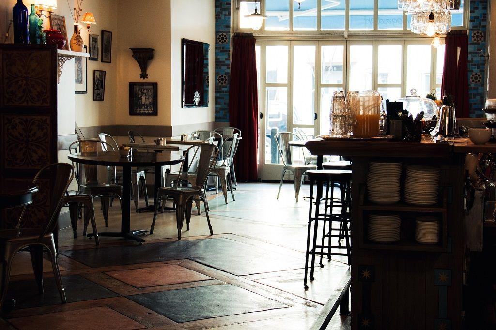 Cafe Mogador interior in New York