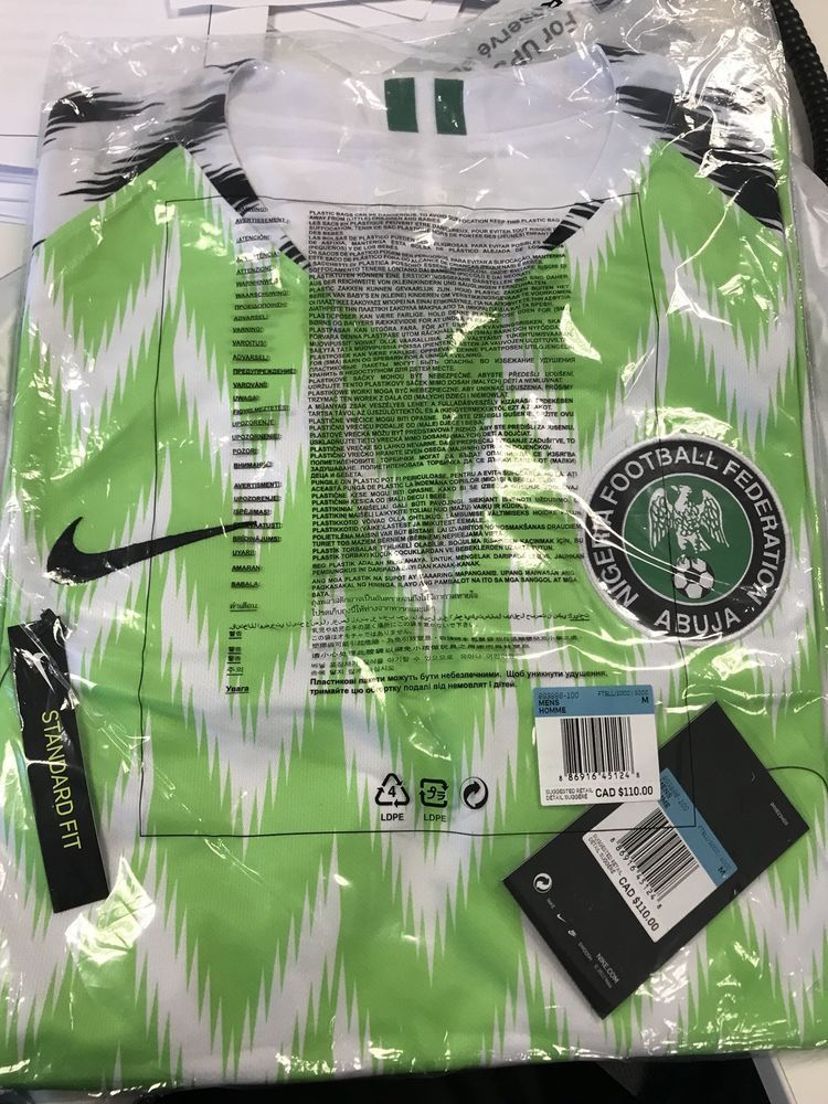 official photos 30861 a9d0b Nigeria Nike Home Jersey Shirt Size Small Authentic World ...