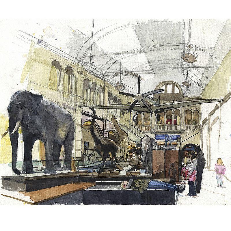 Kelvingrove Museum Plein Air Plein air, Illustration art