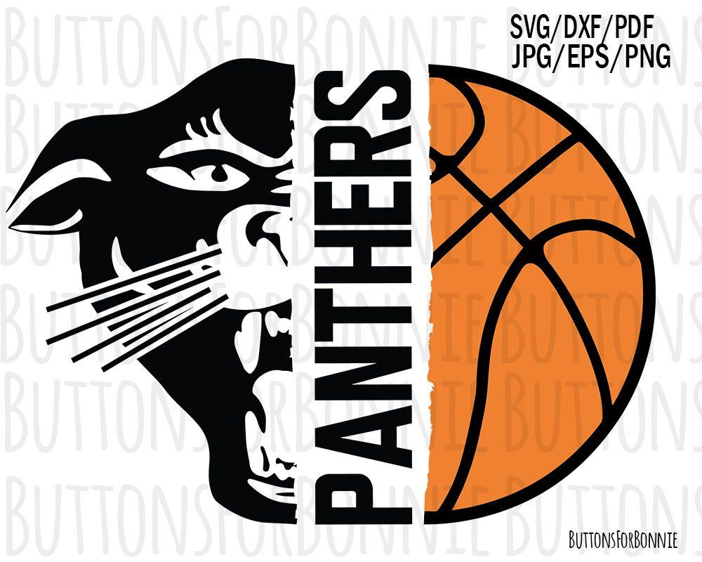 Panther Mascot Panther Svg Basketball Svg Panther Etsy In 2020 Basketball Banners Basketball T Shirt Designs Basketball Shirts