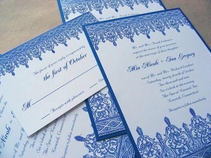 cobalt-blue-wedding-invitations | Pre-Wedding Board | Pinterest ...
