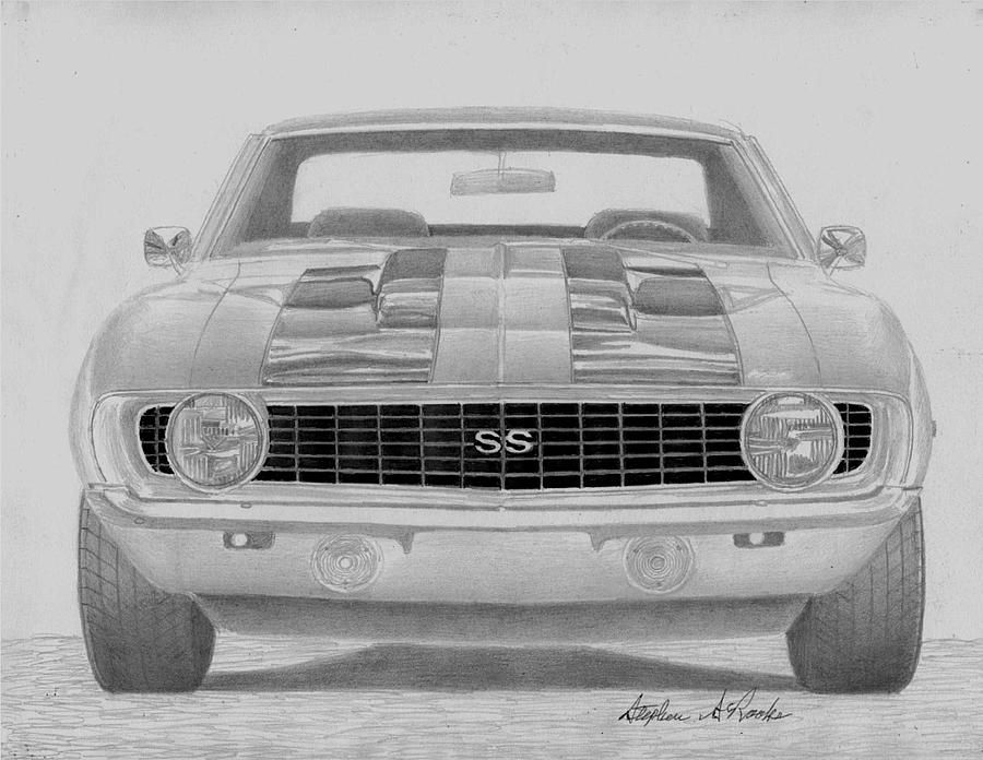 Chevrolet Camaro Ss Classic Car Art Print Camaro Ss Rook