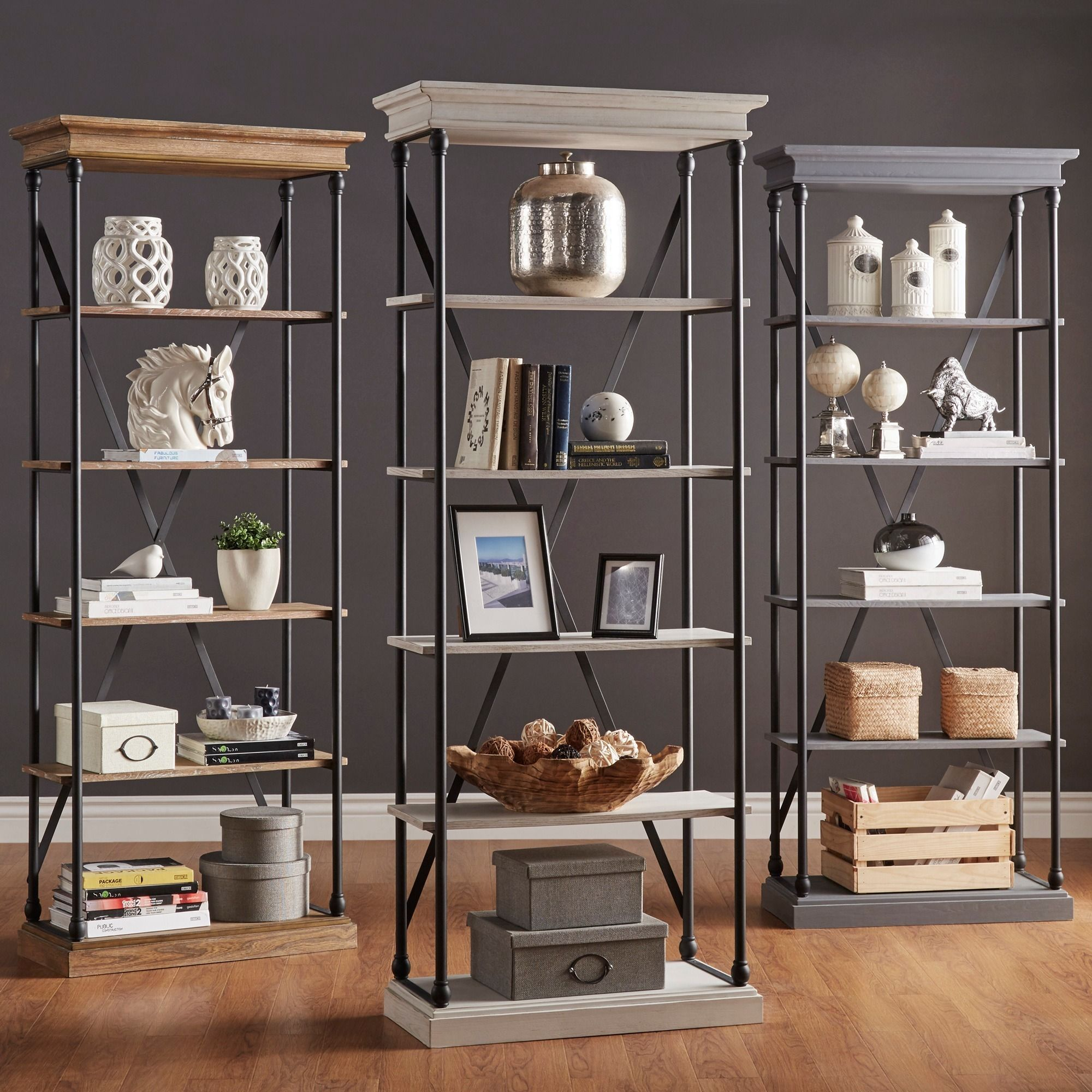 Add bold and rustic character to any room with this industrial style  bookcase. Inspired by