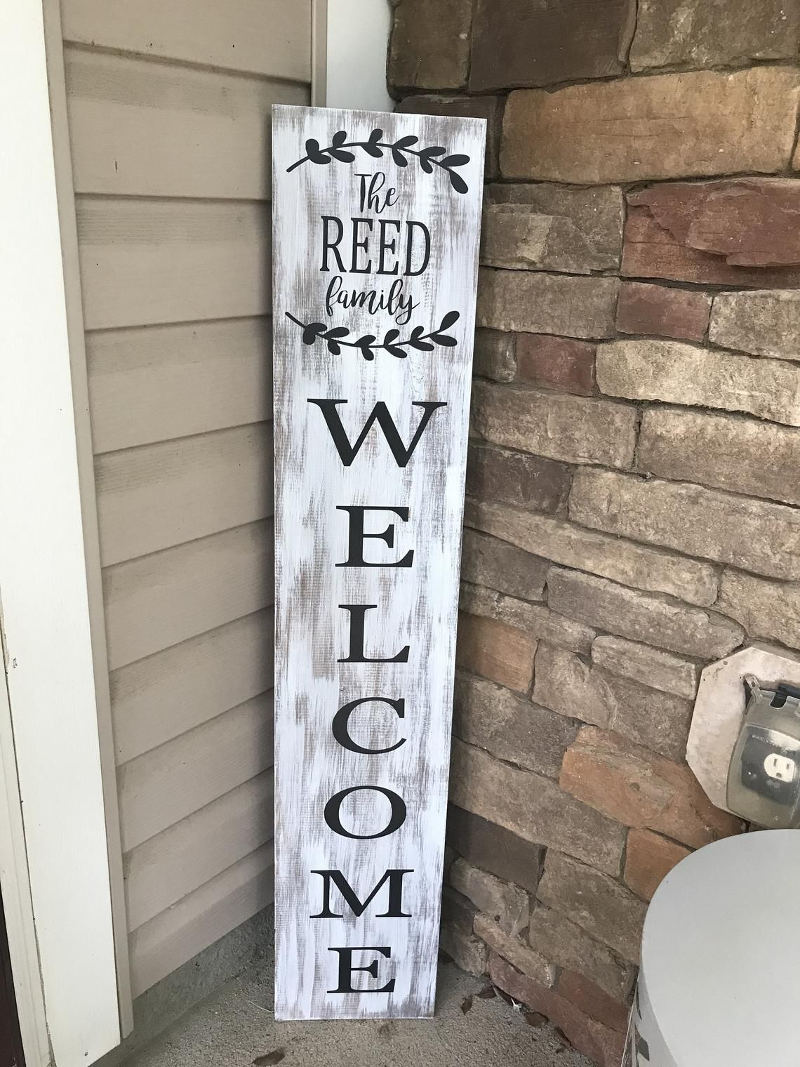 Welcome Sign Personalized Welcome Sign Front Porch Sign Etsy With Images Welcome Signs Front Door Front Porch Signs Porch Welcome Sign