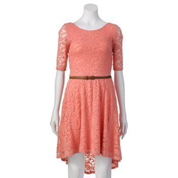 Rewind Lace Hi-Low Dress - Juniors #Kohls | Clothes- Dresses ...