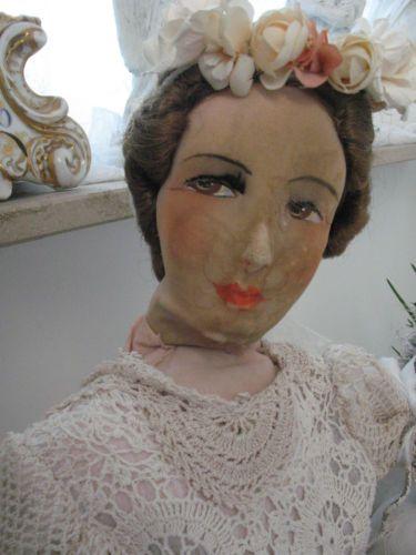 Shabby-Frankreich-Boudoir-doll-Sofapuppe-Teepuppe-Frankreich-Restaurationsbedarf