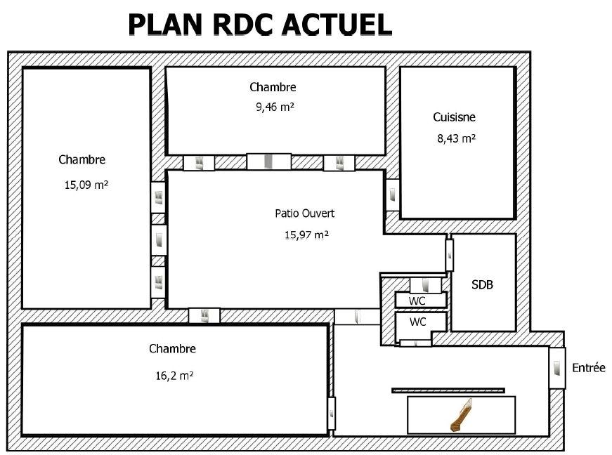 plan de maison marocaine