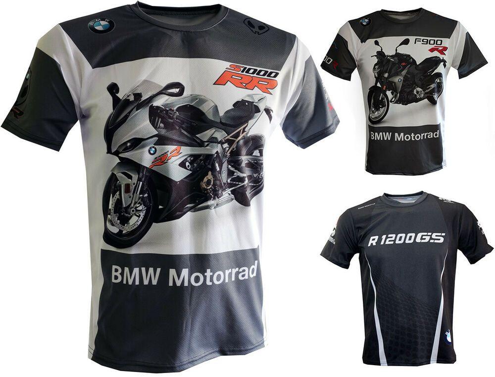 BMW T Shirt S1000RR R1200GS F900R Biker Motorcycle Travel