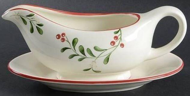 Time left: Auction ends soon Time left: 3d 04h Sunday, 5:13PM Better Homes & Garden Heritage Collection: White, Red & Green Ceramic Gravy Boat #BetterHomesandGardens