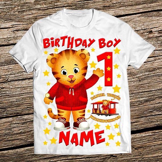 Daniel Tiger Birthday Shirt The Shirts Boy Personalized This Listing Is