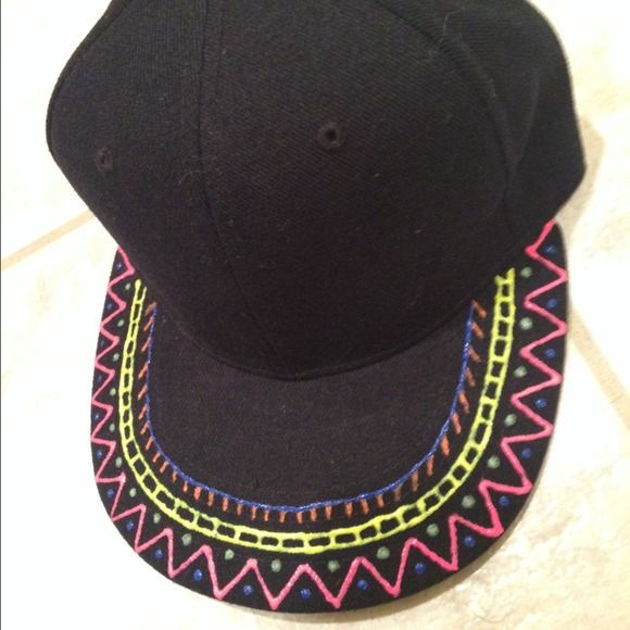 c78ee96eb 55% off Lids Accessories - Puffy Painted Flat bill Hat from ...