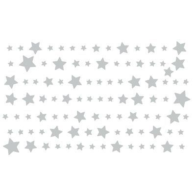 "The Decal Guru Starry Night Wall Decal Size: 21"" H x 72"" W x 0.01"" D, Color: Light Gray"