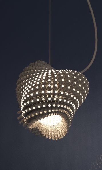 3d printed lampshade by studioluminaire.com.Join the 3D Printing Conversation: http://www.fuelyourproductdesign.com/