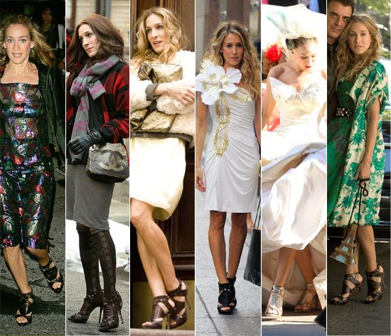 Carrie bradshaw shoes in sex and the city movie