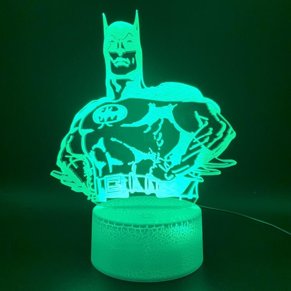 3d Illusion Led Night Light Lamp Marvel Comics Superhero Batman Hologram Nightlight Office Room Deco Batman Comic In 2020 Night Light Lamp Led Night Light Night Light