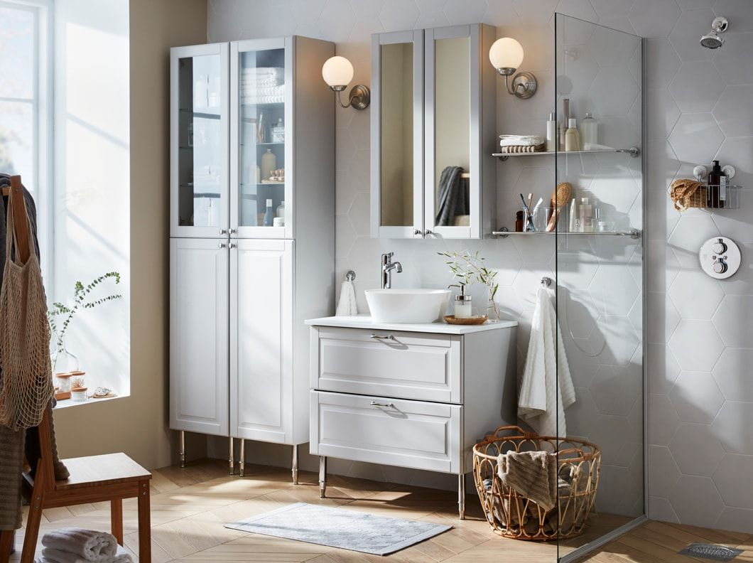 Bathroom Inspiration With Images Trendy Bathroom Bathroom Furniture Inspiration Bathroom Cabinets Ikea