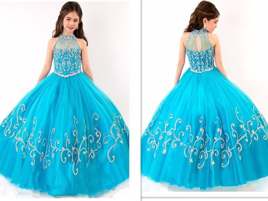 Kidsu ball gown girlus pageant formal party dresses customized