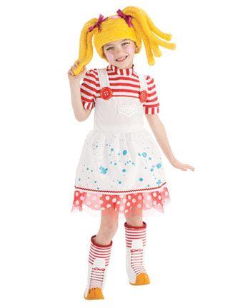 Poupée de chiffon fille Perruque Raggedy Ann Fancy Dress Halloween Deluxe Costume Accessoire