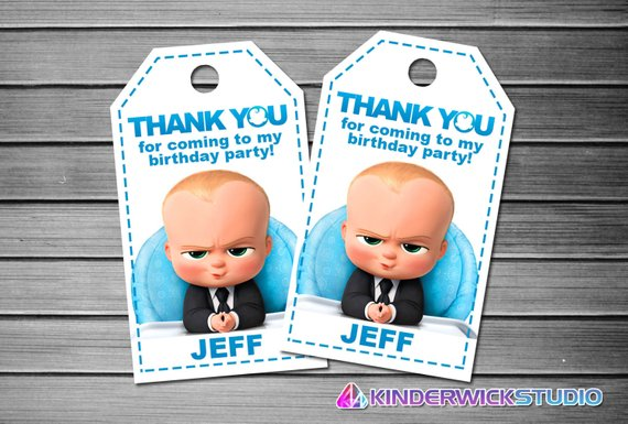 12 Boss Baby Stickers Boss Baby Labels Boss Baby Party Favor