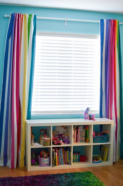 Rainbow Curtains Sewing Inspiration