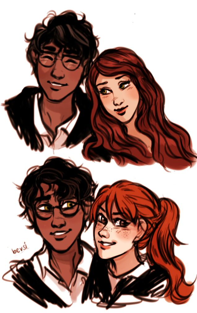 James And Lily Harry And Ginny I Love These Illustrations -2143