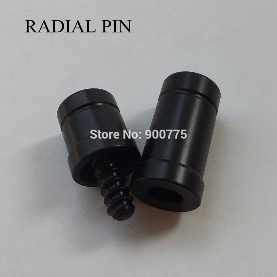 5//16x14 Joint caps with 9 Ball Logo Joint Protectors Black Shaft//Butt