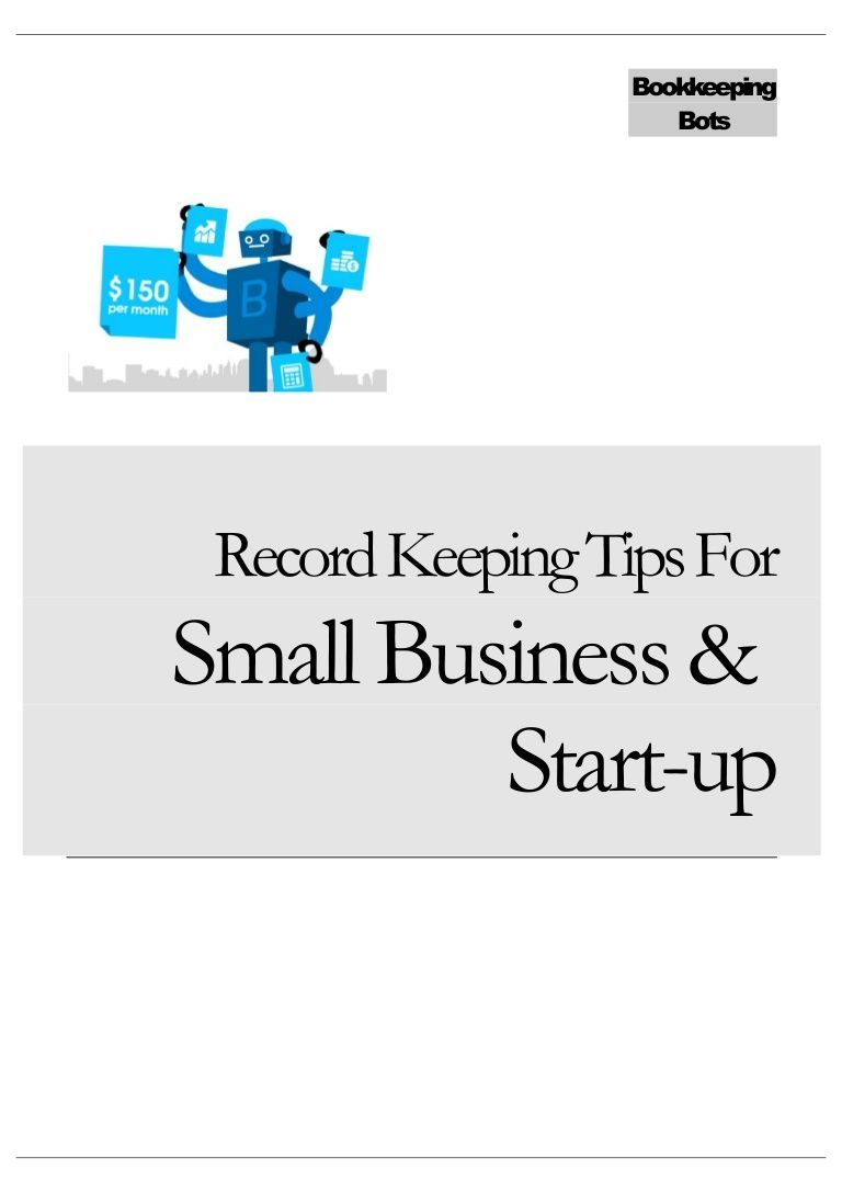Small business tax tips - What records you should keep when starting ...
