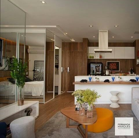 Inspiração ♡ #interiores #design #interiordesign #decor #decoração #decorlovers #archilovers #inspiration #ideias #integrado #sala #livingroom #cozinha #kitchen #fernandamarques