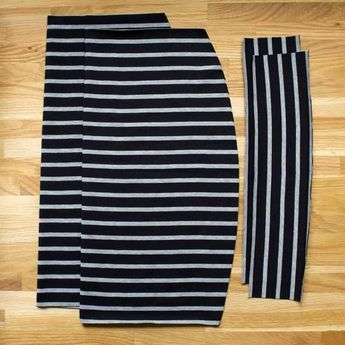 Photo of Sew a simple jersey skirt Sewing instructions and pattern