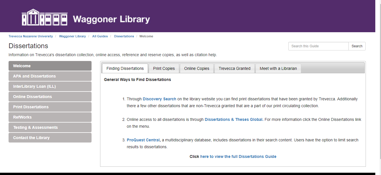 Ed D Research Guide Dissertation Edd Proquest And These Database