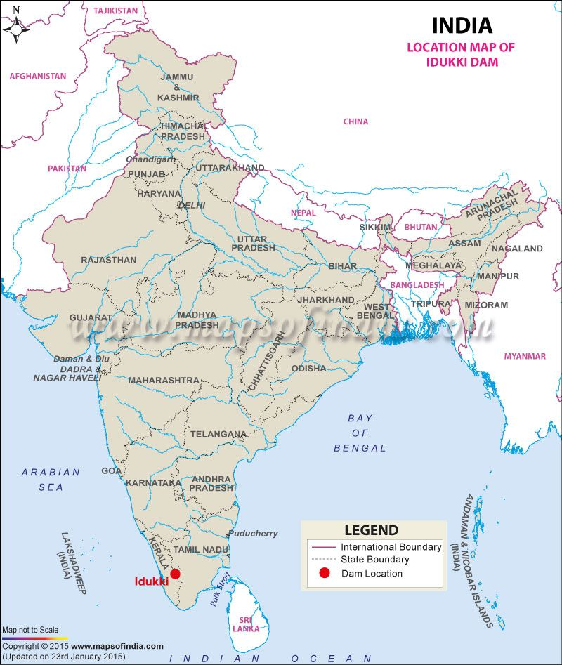 Location of Idukki Dam India - North East - Sikkim Pinterest - new ethiopian plateau on world map