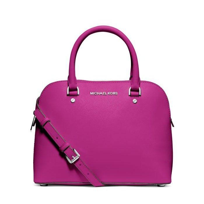 michael michael kors cindy medium saffiano leather satchel purple rh pinterest com