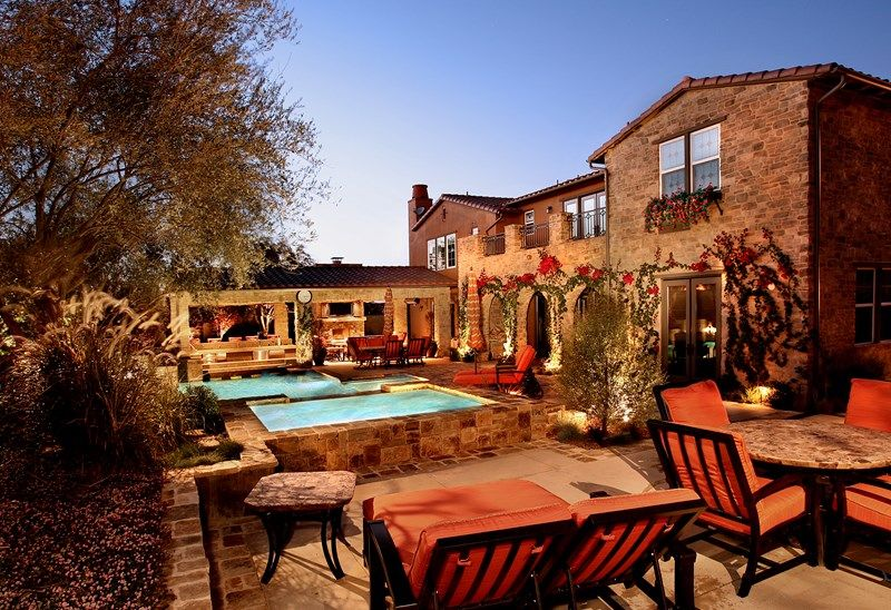 Genial Mediterranean Backyard, Stone Hardscapes Backyard Landscaping Urban  Landscape Inc. Newport Beach, CA
