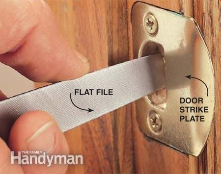 Adjusting a Door Strike Plate Doors House repair and House projects