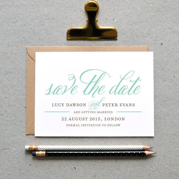 Printable Wedding Save the Date PDF / \u0027Classic Calligraphy - Formal Invitation Letters