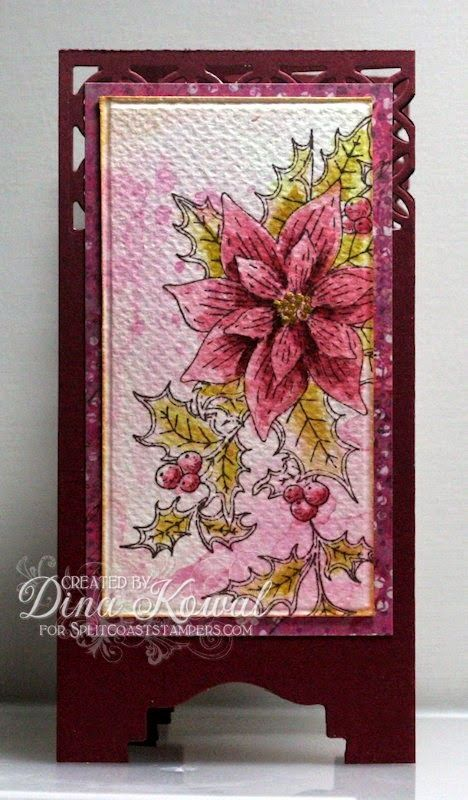Mama Dini's Stamperia: Holiday Blitz Tutorial: Screen Divider Card