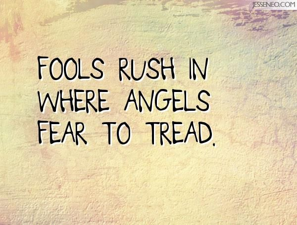 Fools Rush In Where Angels Fear To Tread Fear Quotes Quotes Alexander Pope Quotes