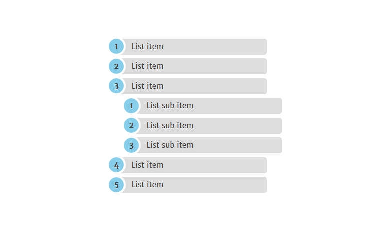 CSS3 Ordered List Style | Web Design | List style, Html css
